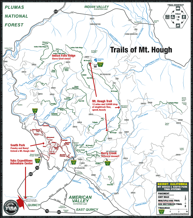 Mt. Hough Map